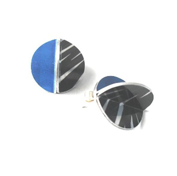 E11043E Blue Zebra Stud Earringsby Dawn