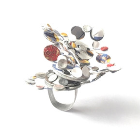 Galaxy Ring & Brooch by Dawn Meaden-Johnson