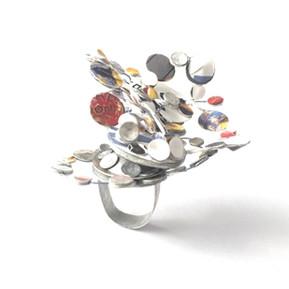 Galaxy Ring & Brooch by Dawn Meaden-Johnson