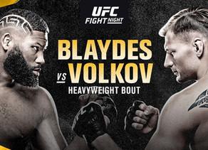 UFC Fight Night: Blaydes vs Volkov as it happened