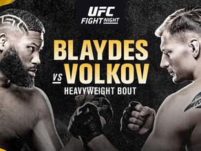 UFC Fight Night: Blaydes vs Volkov as it happened
