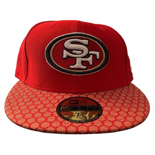 49ers - Red/Gold Custom Pattern - Fitted Hat