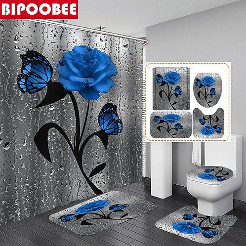 3D Flower Bathroom Set
