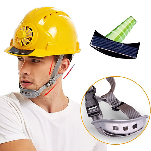 Safety Helmet - Cooling Solar Powered Fan