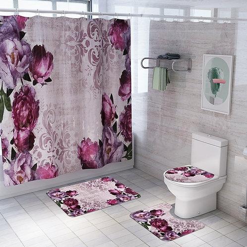 Rose Design Bathroom Set
