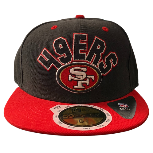 49ers - Black/Red Logo - Fitted Hat