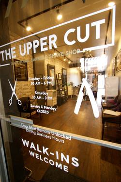 Entrance to Upper Cut Barber Shop
