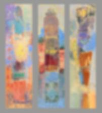 Menorcian Triptych  3- 48_ x 12_.acrylic