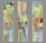 Cordoba Triptych 3- 48%22 x 12%22 acryli