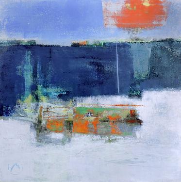 A Winter's Shore   24_ x 24_  acrylic on
