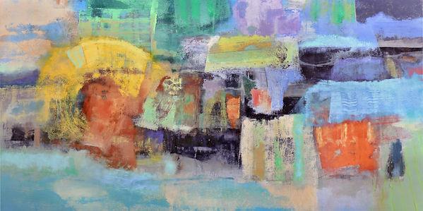 To Winter's Arcades. 36_ x 72_. acrylic