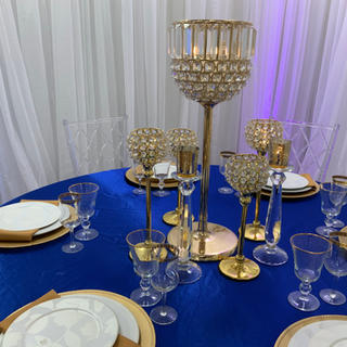 """24"""" gold crystal candle holder  4 available"""