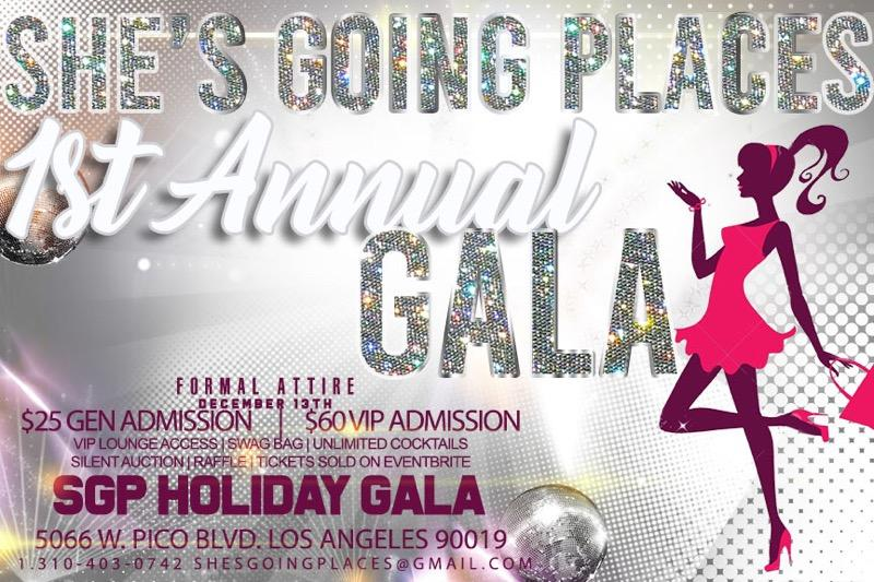She's Going Places Holiday Gala