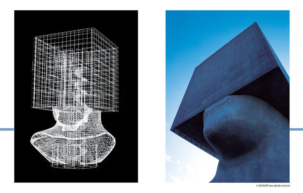 Yves Bayard Architecte DPLG ©Adagp Créateur des ©Sculptures Monumentales Habitables présenté en 1985 à la Fiac. La Bibliothèque Louis Nucéra, Tête carrée, est la première et unique sculpture monumentale habitée © réalisée, au monde, à Nice, 2002
