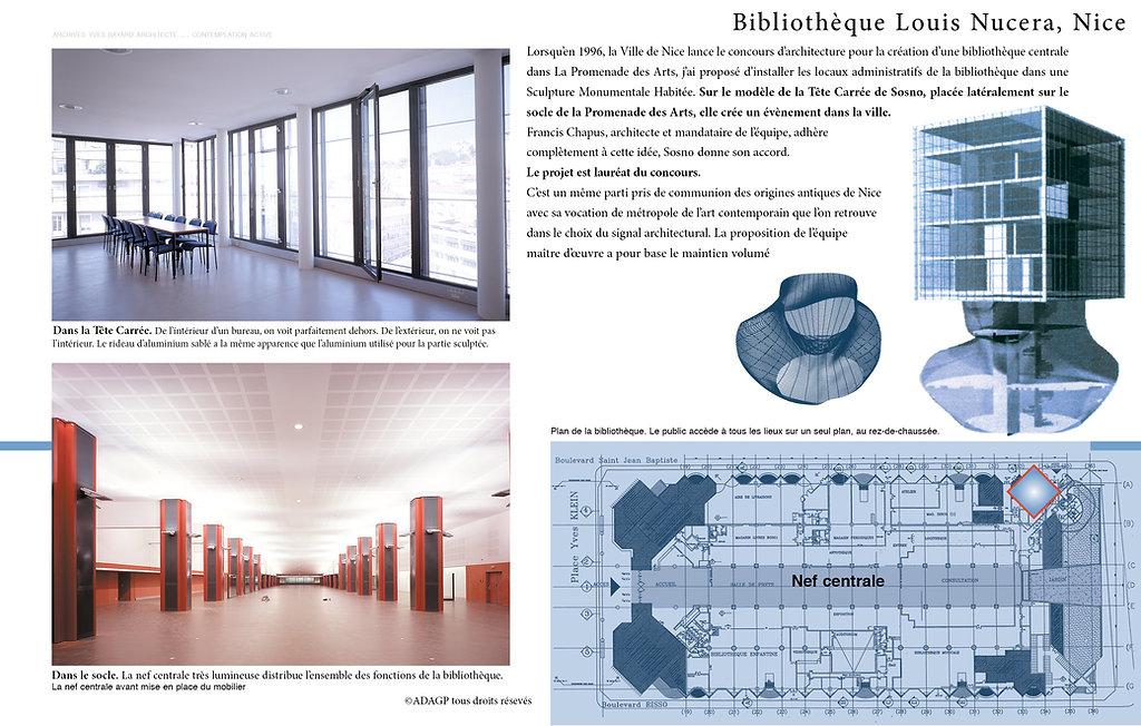 Yves Bayard Architecte DPLG ©Adagp documents de la Bibliothèque Louis Nucéra, unique sculpture monumentale habitée © au monde, Nice, inaugurée en 2002