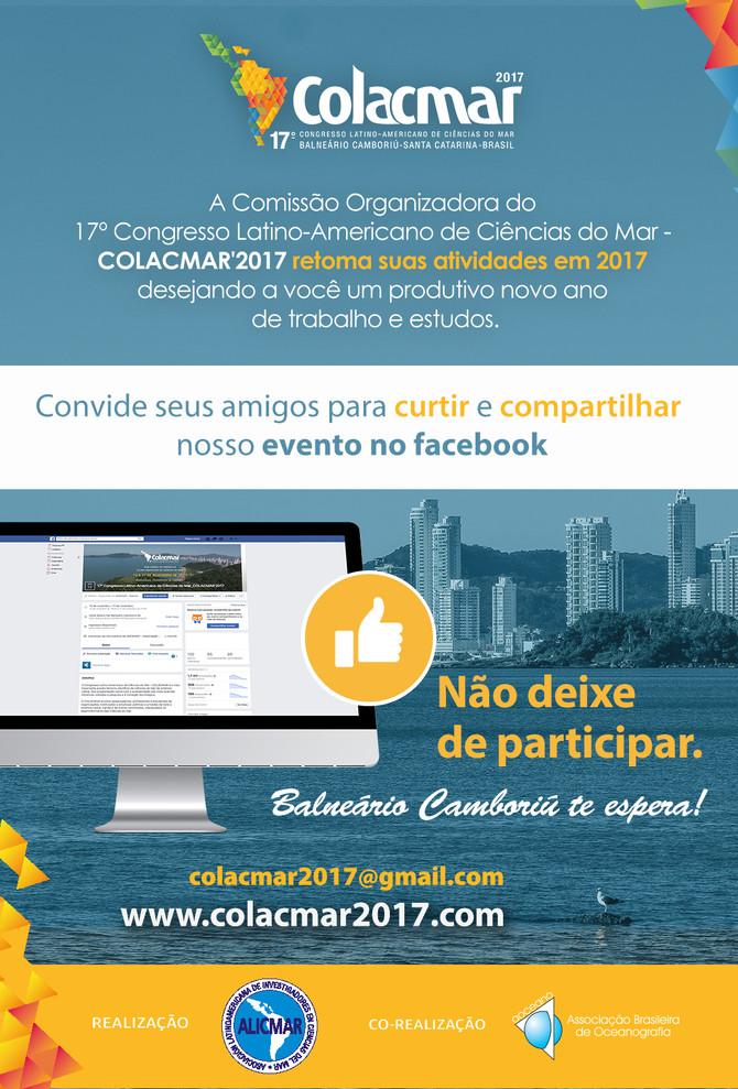 A COMISSÃO ORGANIZADORA DO 17º CONGRESSO LATINO-AMERICANO DE CIÊNCIAS DO MAR - COLACMAR'2017 TAM