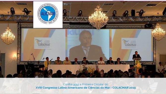 LANÇADA A PRIMEIRA CIRCULAR DO XVIII CONGRESSO LATINO-AMERICANO DE CIÊNCIAS DO MAR – COLACMAR'2019