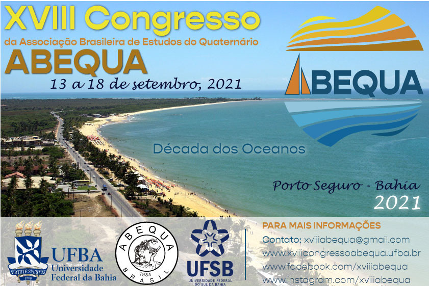 Folder do XVIII Congresso da ABEQUA - 2021