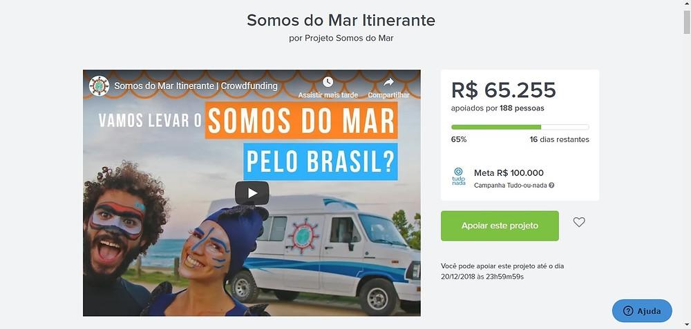 Projeto está próximo de atingir a meta de R$ 100.000
