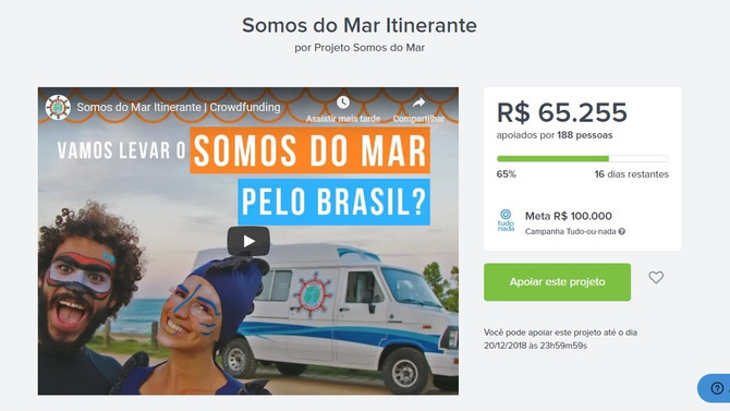"""ASSOCIAÇÃO BRASILEIRA DE OCEANOGRAFIA APOIA INSTITUCIONALMENTE O PROJETO """"SOMOS DO MAR"""""""