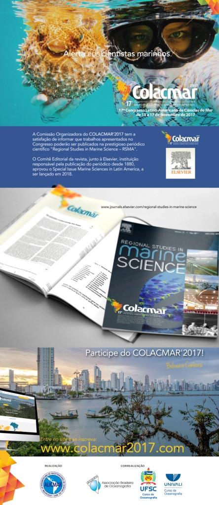 TRABALHOS APRESENTADOS NO COLACMAR'2017 PODERÃO SER PUBLICADOS NA REVISTA CIENTÍFICA INTERNACIONAL &