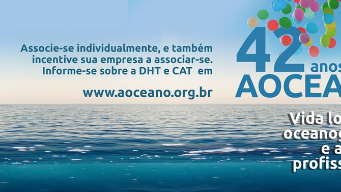 ASSOCIAÇÃO BRASILEIRA DE OCEANOGRAFIA COMPLETA 42 ANOS CELEBRANDO A REPRESENTATIVIDADE PROFISSIONAL