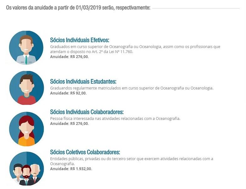 Novos valores e mais informações em www.aoceano.org.br