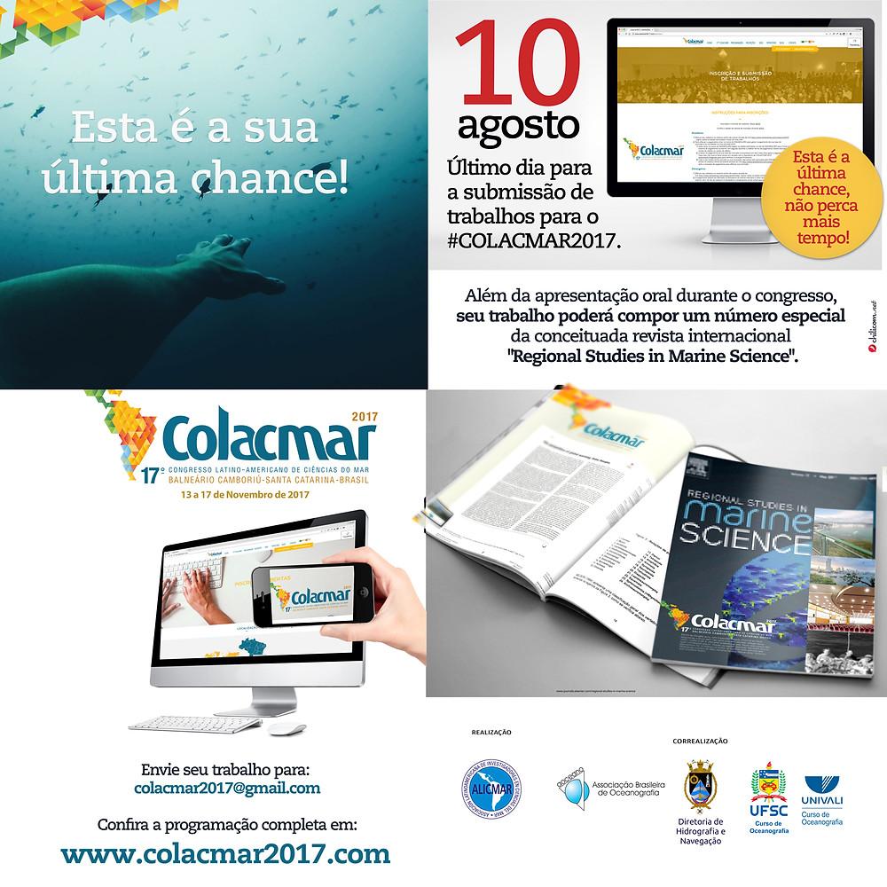 Inscreva-se em www.colacmar2017.com e colacmar2017@gmail.com