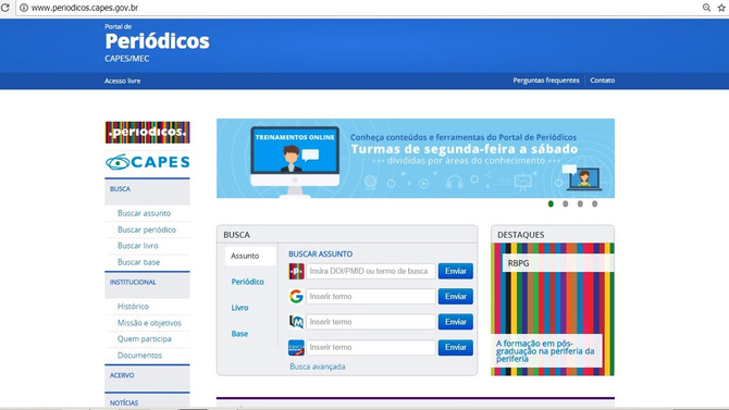 CAPES DISPONIBILIZA PLATAFORMA CIENTÍFICA COM MAIS DE 60 MILHÕES DE REGISTROS DE PESQUISAS E TRABALH