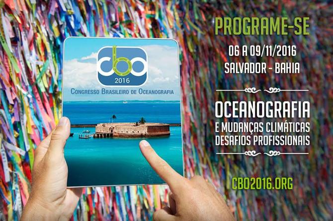 SALVADOR SE PREPARA PARA O CONGRESSO BRASILEIRO DE OCEANOGRAFIA – CBO'2016