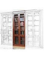 купить, недорого, спб, книжный шкаф, кабинет