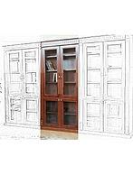 купить, недорого, спб, книжный шкаф, мдф