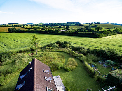 Ruth's meadow garden from above