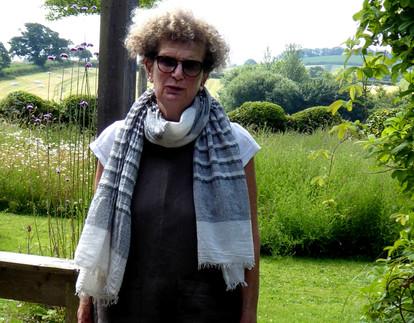 Ruth in her garden