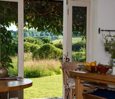 Ruth's garden kitchen view