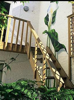Basement garden mural