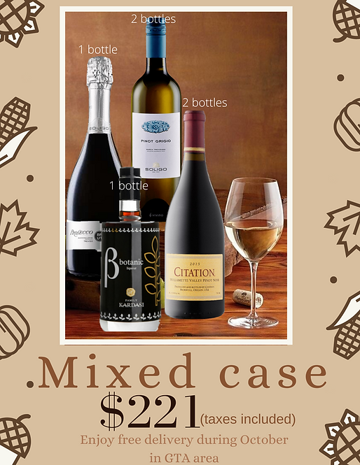 | Mixed Case | 1 case (6 bottles)