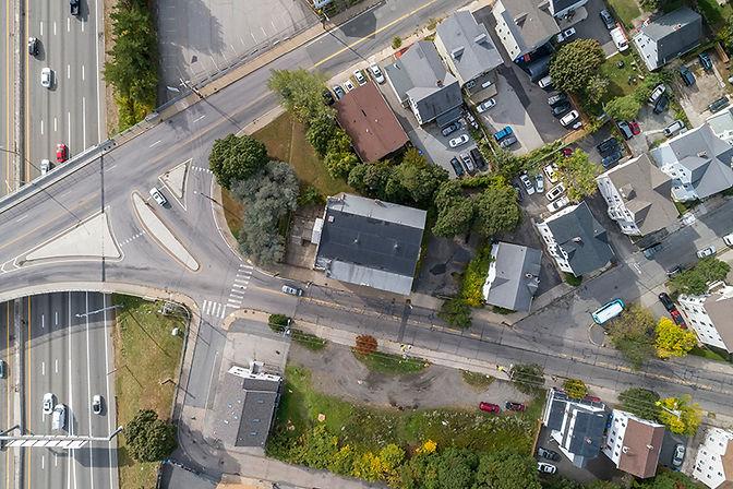 aerial view od 24 Douglas Ave. Providence, RI