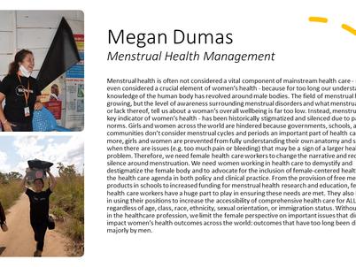 Megan Dumas- Women in Healthcare