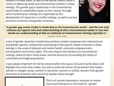 Jasmin Lilian Diab- Women in Humanitarian  Contexts