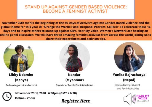 Stand up against gender based violence_