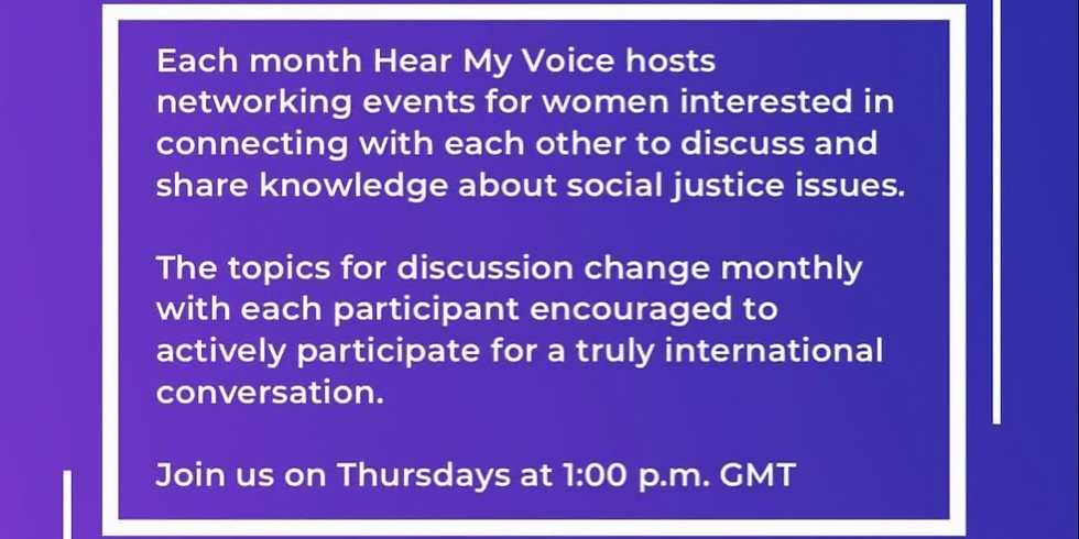 Connect with women from field of Social Justice!!