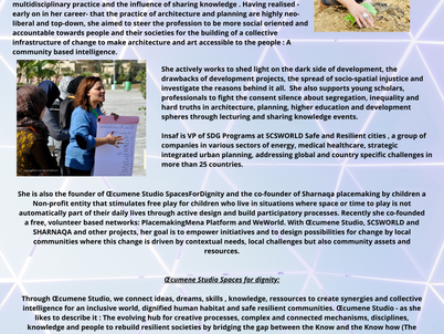 Insaf Ben Othmane Hamrouni- Women in Humanitarian Contexts