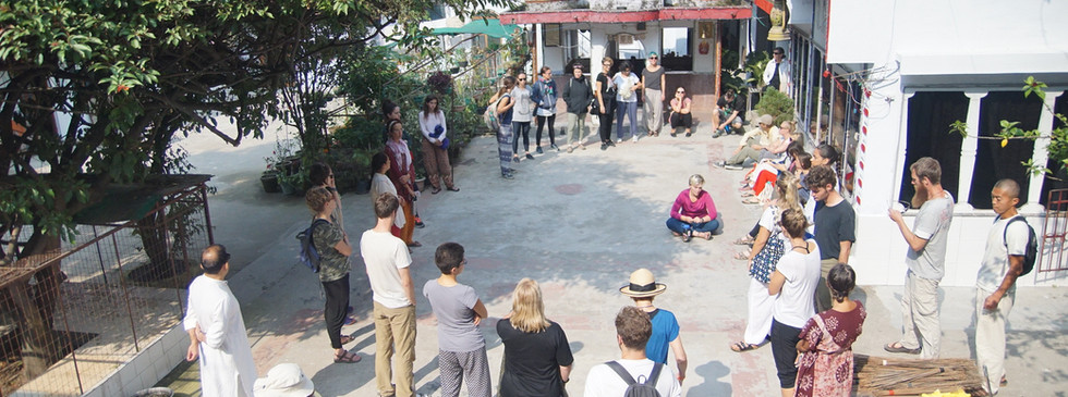 Day 1 Welcome to our new students at Phool Chatti Ashram, Rishikesh