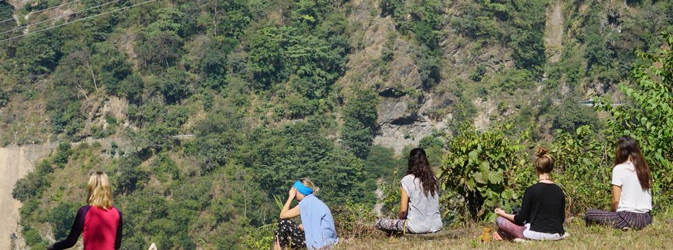 Meditative Walking at Phool Chatti Ashram, Rishikesh, North India