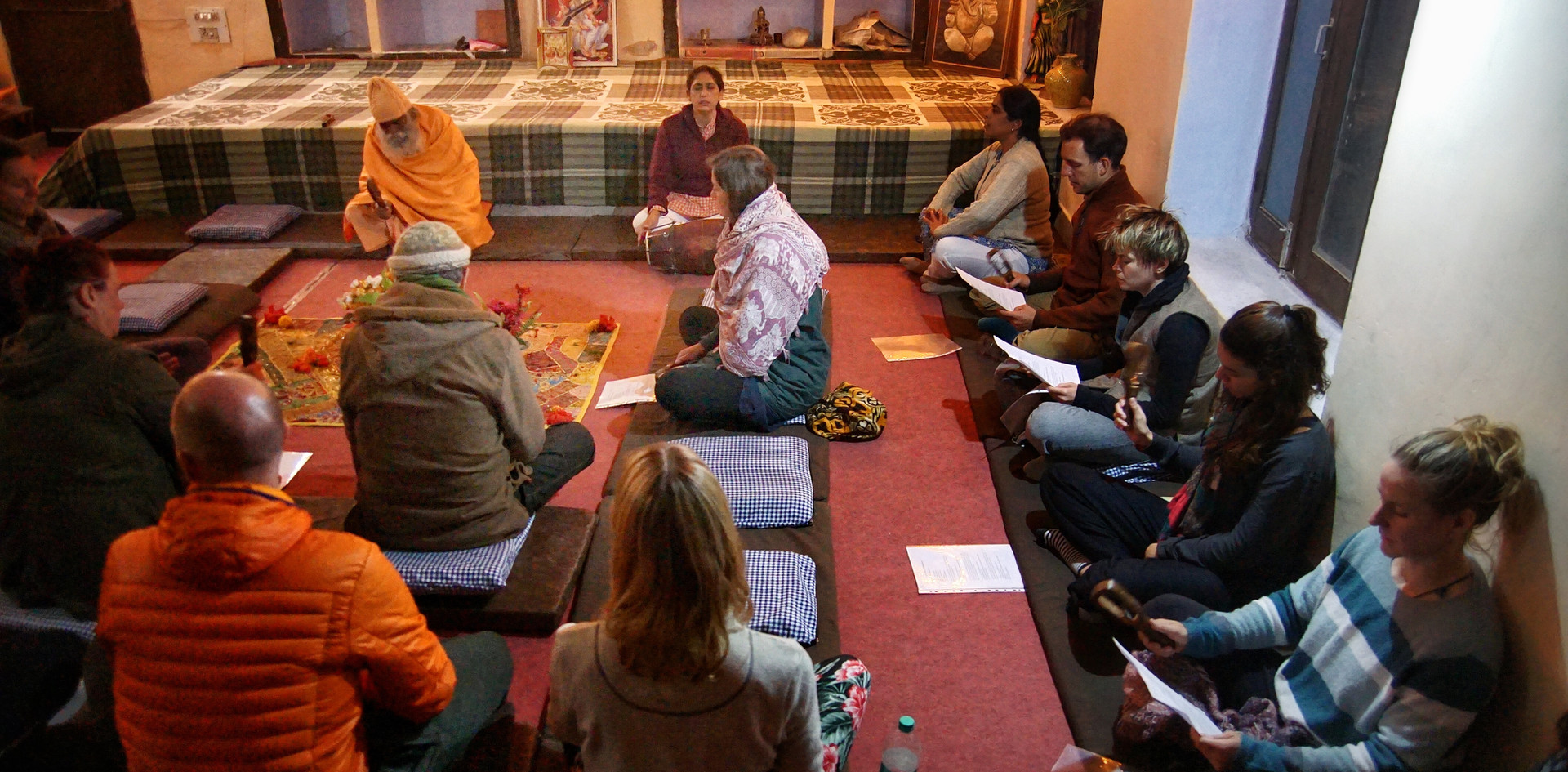 Chanting Hall at Phool Chatti Ashram