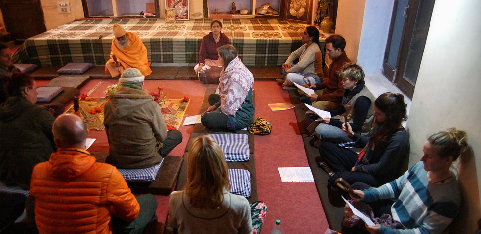 Chanting Hall at Phool Chatti Ashram