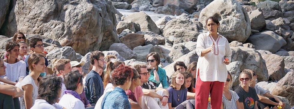 Ritual Bathing in the Ganga, Phool Chatti Ashram, Rishikesh