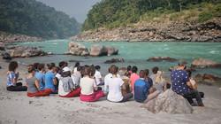 Ganga bathing ritual