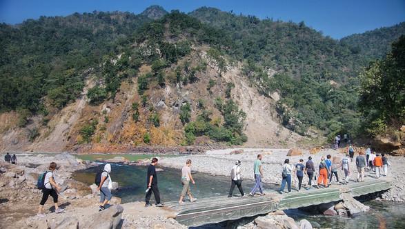 Walking Meditation - to the bank of Ganga